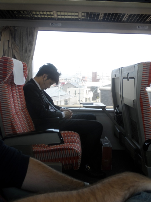 This sums up all you need to know about Japanese trains. Salarymen get their bento box lunch and promptly pass out, dreaming of one day escaping the dreariness of their day to day existence.